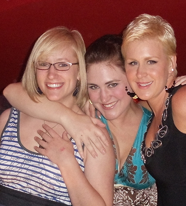 Author Steve Gierhart's Three Daughters, Erin, Jennifer, and Stephanie, in Las Vegas June 2010