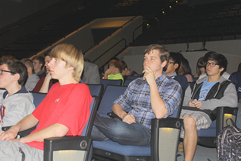 James Clemens High School students listen to the HLA presentation on Young Writers' Contest