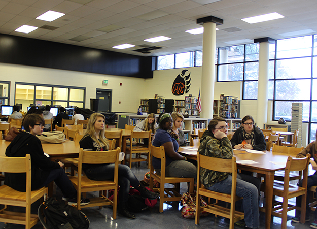 Decatur's Austin High students listen to HLA's Young Writers Briefing