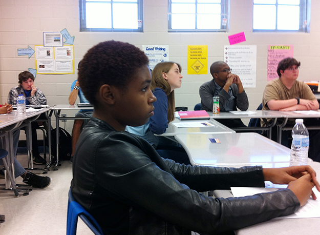 New Century students were keen to understand how to enter HLA's Young Writers Contest.