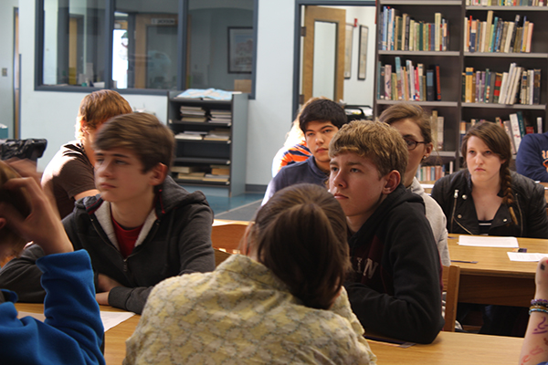 Red Bay High Students Listen to HLA Briefing
