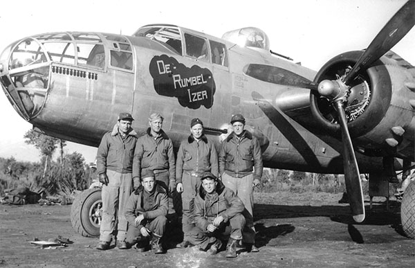 Joe and Crew with their B-25 Mitchell