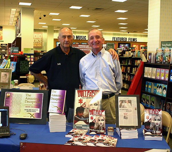 Doyle Duke and J.D. Frost, fellow members of the Coffee Tree Writing Group in Huntsville Alabama