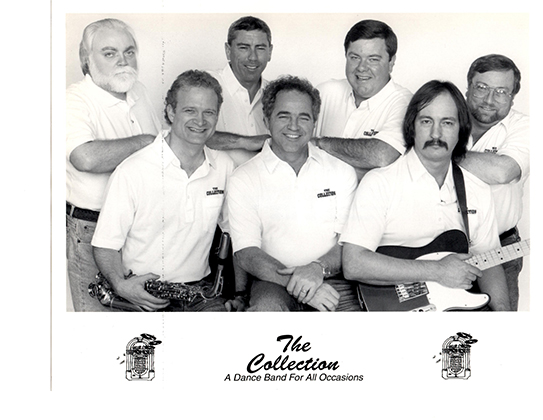 "Butch Carroll, author of Tokers' Blood, was a member of the band ""The Collection"" in earlier days.  In this photo Butch is the second from the right on the back row."