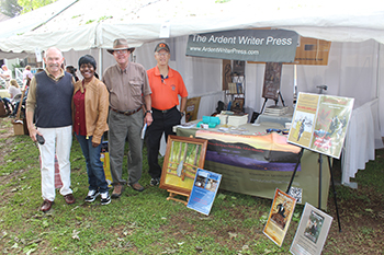 Ardent Writer authors Charles Farley, Carol Ealons, Butch Carroll and Larry Williamson signed books for the public at the Huntsville Literary Association tent at the Alabama Book Festival in Montgomery.
