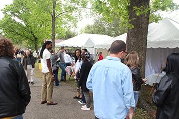 Street Scene at 2014 Alabama Book Festival held in Montgomery, Alabama