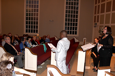 Andrew Dylan McIntosh reads his poem, Unpredictable, at Huntsville Master Chorale's Spring is Bach