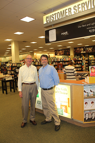 Author J.D. Frost discusses his book signing in Chattanooga with Barnes and Noble manager, Kelly Flemings.