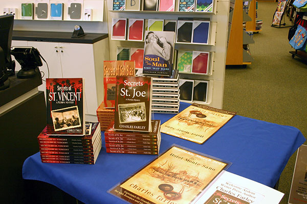 Some of the books and novels of Charles Farley.