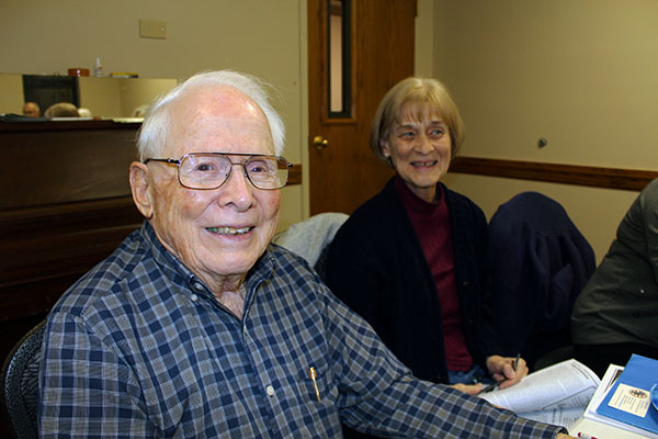 Joe and writer friend, Doris Posey (right), were both published in the Christmas Issue of Old Huntsville Magazine
