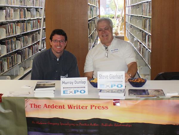 Murray Dunlap and Steve Gierhart enjoy Author Expo 2015 in Birmingham
