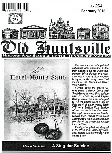Cover February Issue Old Huntsville Magazine. Book Cover by Jennifer Jones, Edmond, Oklahoma