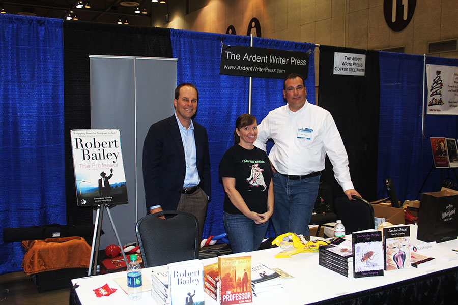 Robert Bailey, The Professor, Stacy Kingsley (Zombies are People Too!) and Eric Herbert (Butcher's Bill).  Robert's book, The Professor, is in its second edition with over 500 Amazon reviews and a sequel has been signed.