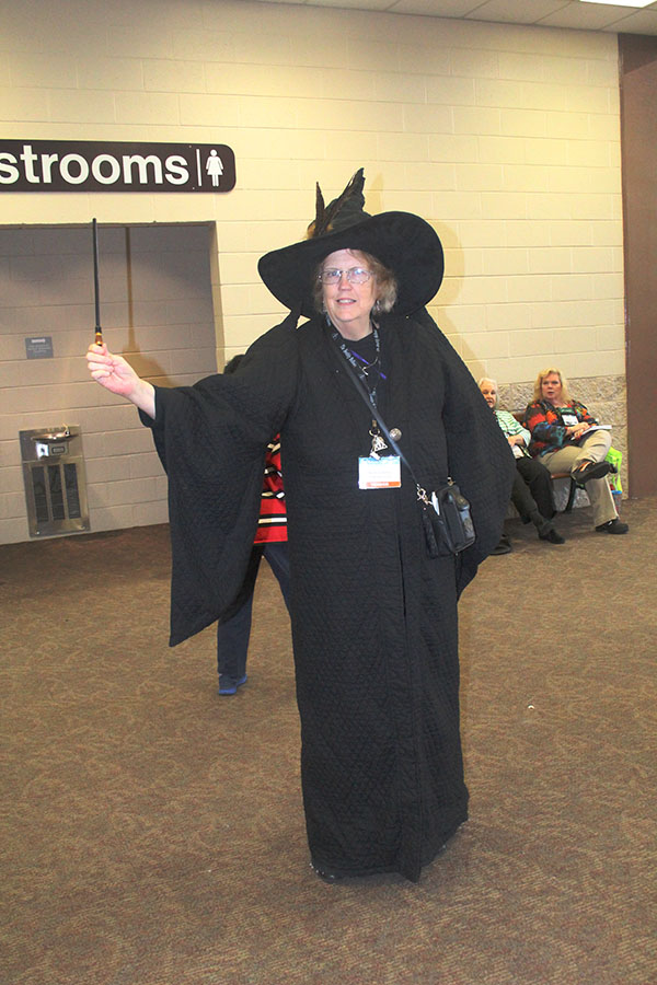 A Harry Potter themed witch from the Costume Parade