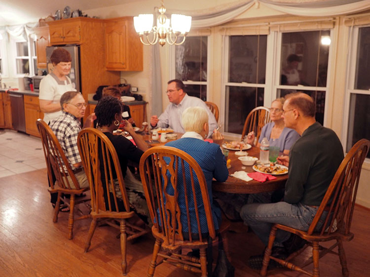 Inside Steve and Bonny's home in Brownsboro, Alabama during the RCLF Dinner Party