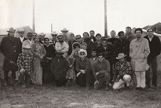 The Author and the rest of the Peace Corps trainees in his group pictured outside of Zapata, Texas near the border with Mexico in 1967. David is on the top row, third from the right.