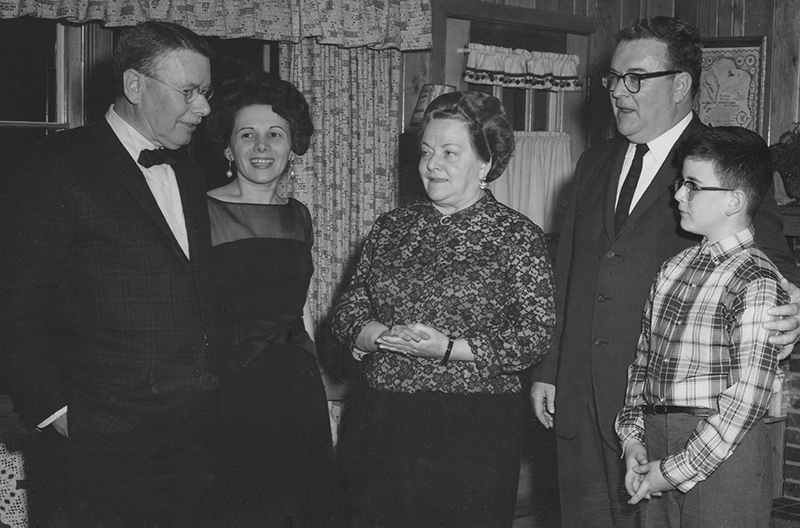 Brooks and Oriana Atkinson (1965) with son, Bruce, his wife, Audrey