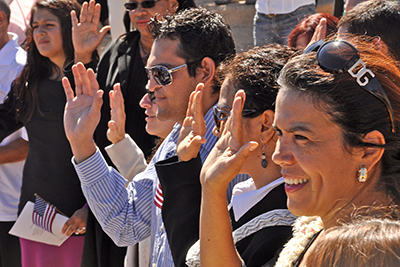 On Thursday, September 23, Grand Canyon National Park in coordination with The Department of Homeland Security, hosted a naturalization ceremony at the Mather Amphitheatre on the South Rim. This is the first time in history that Grand Canyon National Park has hosted such an event.